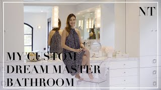 MY CUSTOM DREAM MASTER BATHROOM REVEAL! | First ever peek into my luxury bathroom | NINA TAKESH