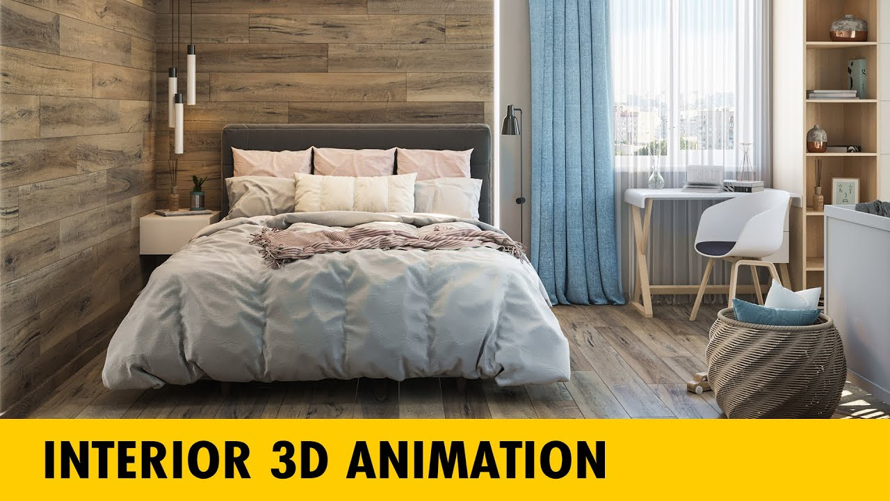 Interior 3D Animation   Bedroom