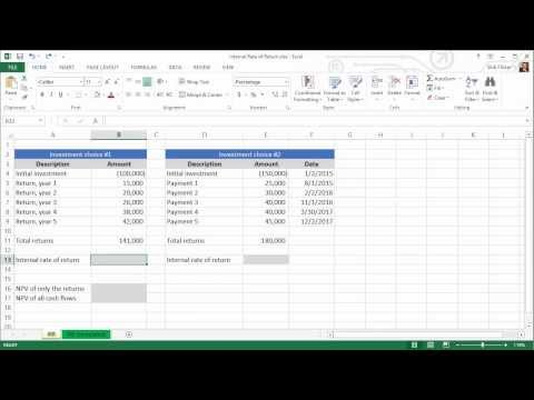 Spreadsheets for Finance: Calculating Internal Rate of Return