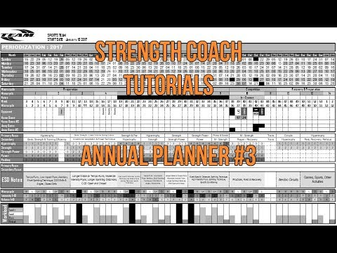 Yearly Training Plan #3 | Strength Coach Tutorials | DSMStrength | Formatting