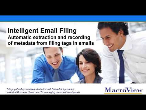 Intelligent Email Filing - automatic metadata extraction