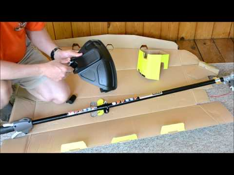Ryobi 4 (Four) Cycle 30 cc Gas Trimmer Assembly & Review