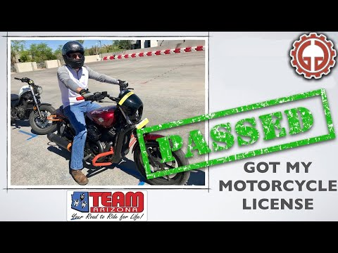 Passed my Motorcycle License Test with Team Arizona