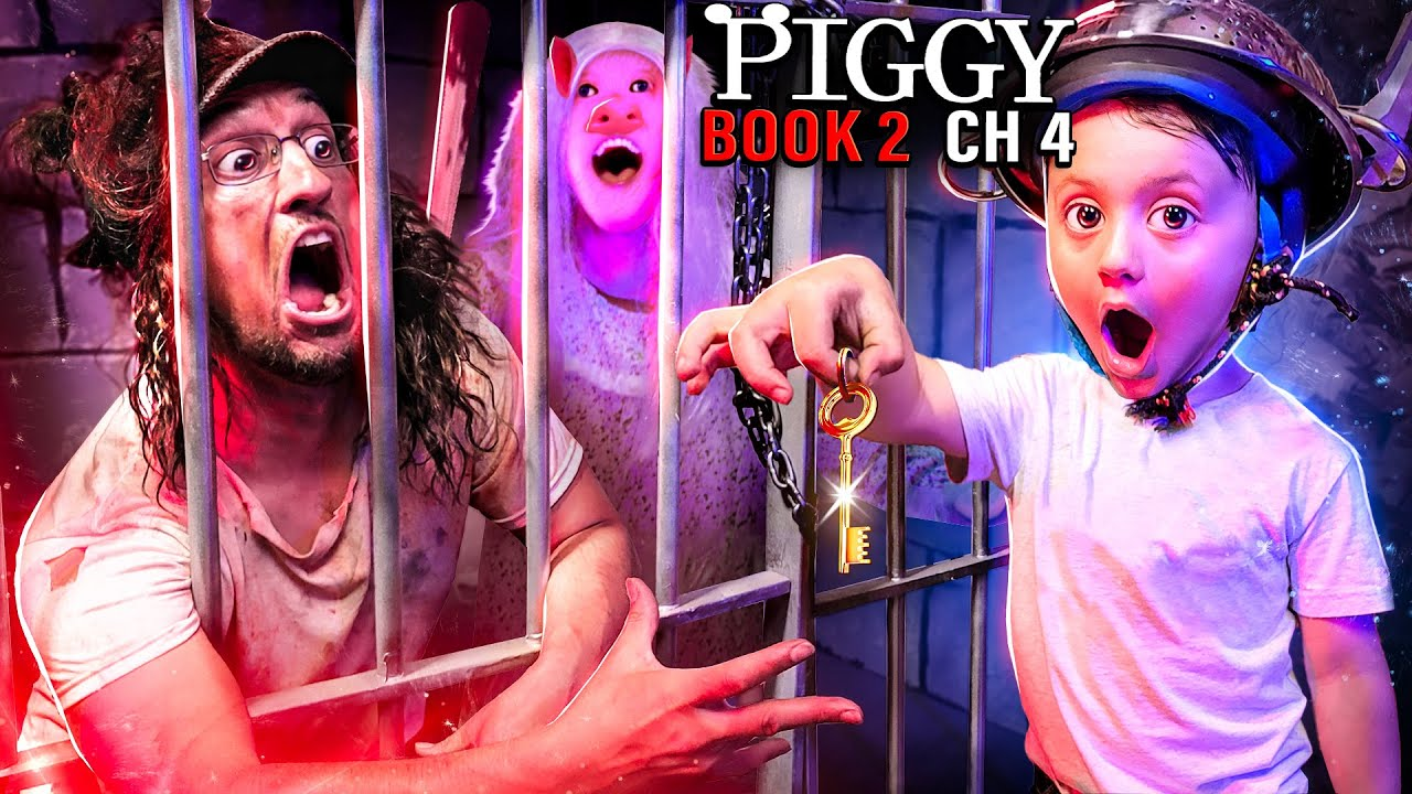 PIGGY Trapped Me 4 MONTHS!! (FGTeeV Family vs. ROBLOX Book 2 Ch4 Gameplay/Skit)