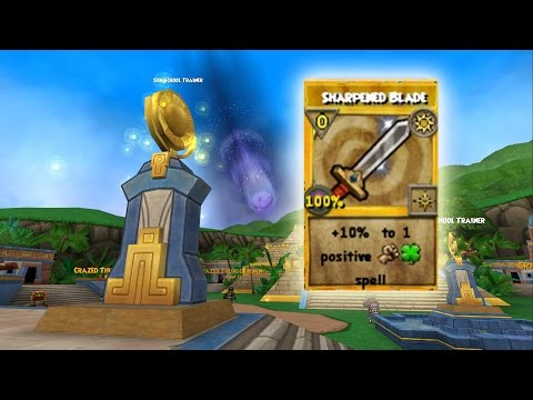 Wizard101: FINALLY GETTING SHARPENED BLADE!