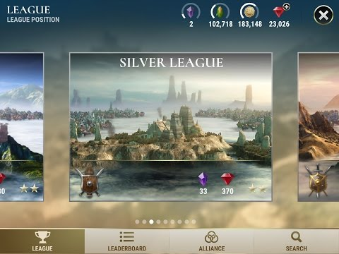 Dawn of Titans - Silver League Gameplay - Attack Strategy
