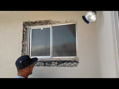 Replace bathroom window with a smaller one