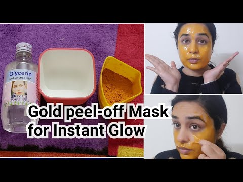 24k GOLD PEEL OFF MASK FOR INSTANT GLOWING SKIN in 15 MIN AT HOME / NO GELATIN PEEL OFF MASK
