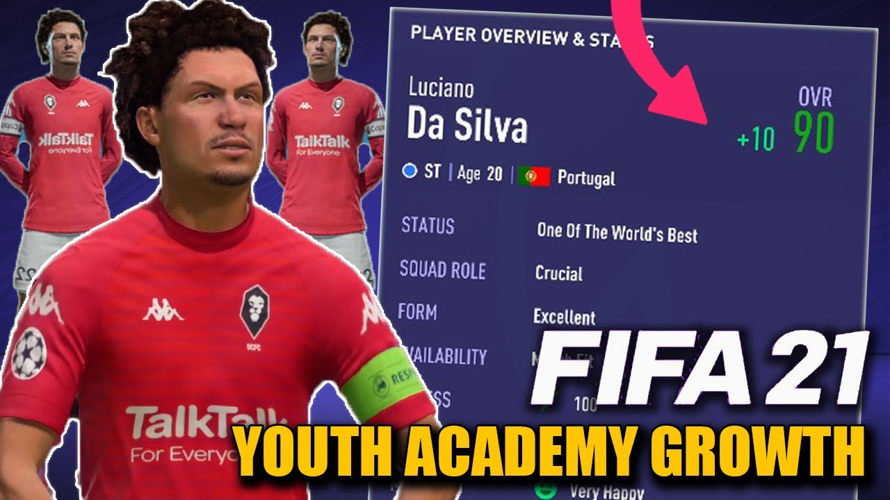 HOW TO GROW FASTER YOUR YOUTH ACADEMY PLAYERS IN CAREER MODE!!! - FIFA 21
