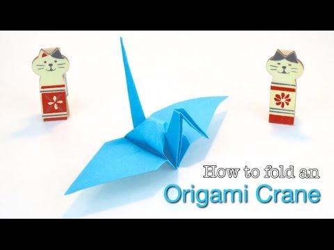 Paper Crane: How to make a Paper Crane. Easy Origami Crane tutorial, by OrigamiCalm.