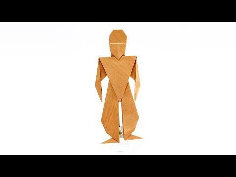 【複合折り紙】人間【さく】 Two Pieces Origami Human by sakusaku858