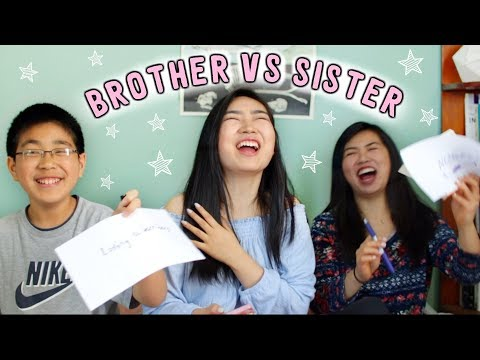 Brother vs Sister Challenge - Who Knows Me Better? | JensLife