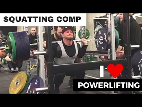 Bodybuilder POWERLIFTTING - squatting competition HOW WELL CAN YOU SQUAT ?