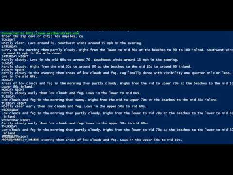 PowerShell, check weather