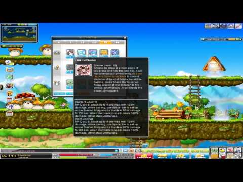 MapleStory Bow Master RED Update (GMS)- First Impressions