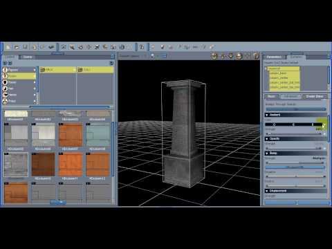 3D Tutorial - Column Set 01 in Daz Studio - Part 1 Intro