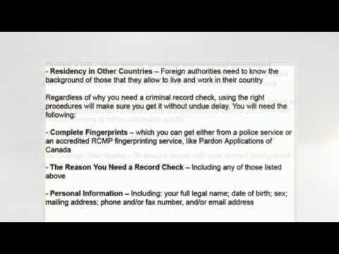 Canadian Criminal Record Checks
