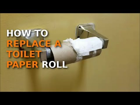 How to replace toilet paper roll