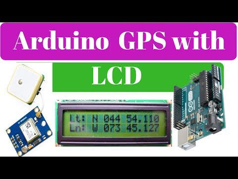 Arduino GPS Module with LCD Display | Arduino position tracking