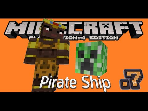 Minecraft PlayStation®4 Edition Creeper Pirate Ship Build Part1