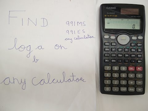 Find log with any base using calculator (Casio 991MS, 991ES, etc)