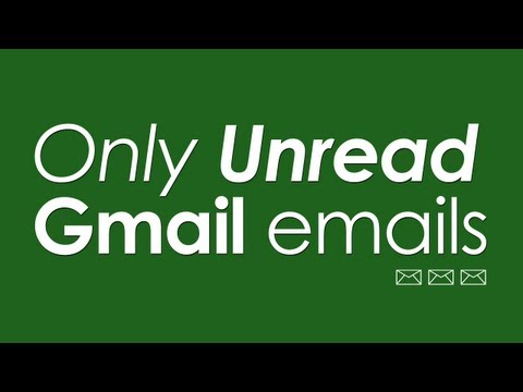 See only Unread email messages in Gmail