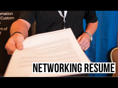 What's A Networking Resume