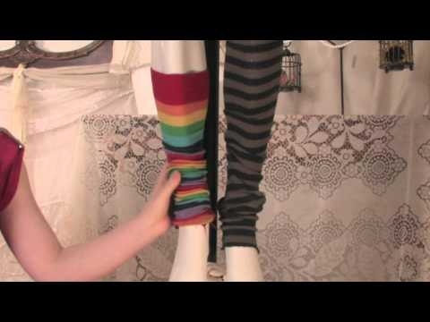 How Do I Make Leg Warmers Out of Socks? : Fashion Below the Knees