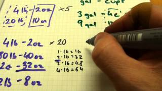 Multiplication With Lb Oz Gallons Cups Tablespoons