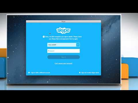 How to Fix sign in/out issue for Skype® on Mac® OS X™