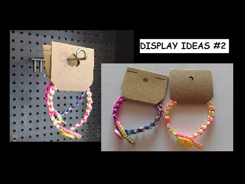 How to Make a Low Cost Display for Handmade Bracelets [for Craft Stalls/Fairs/Gifts etc] #2