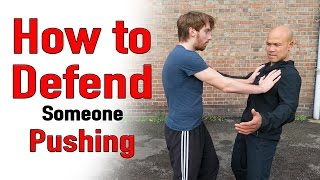 How to defend someone pushing you | Master Wong