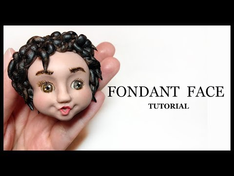 How to Make a Fondant Face: Short Curly Hair Sugar Paste Face Tutorial