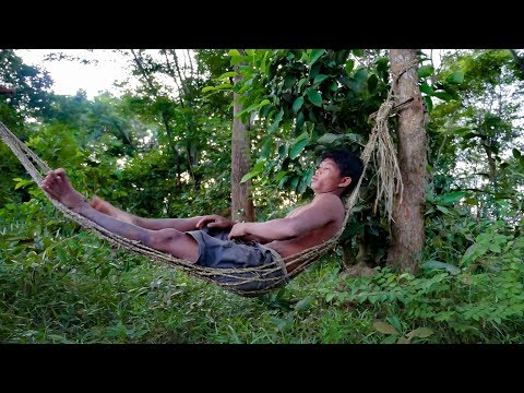 Primitive Technology, Making Hammock from common water hyacinth