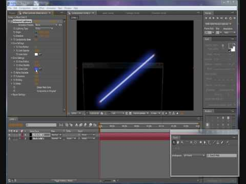 After effects tutorial-laser beam