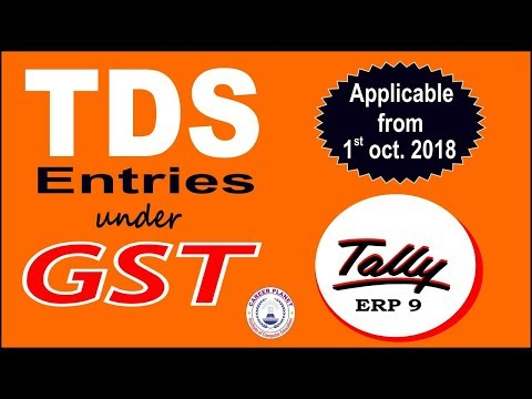 TDS Entries in GST Tally ERP 9| TDS Adjustment in GST| TDS Credit in GST |TDS in Tally GST Part-119