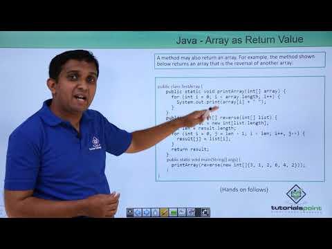 Java - Array as Return Value