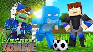 MY BEST FRIEND IS A ZOMBIE !! Minecraft w/ Sharky and Scuba Steve #1