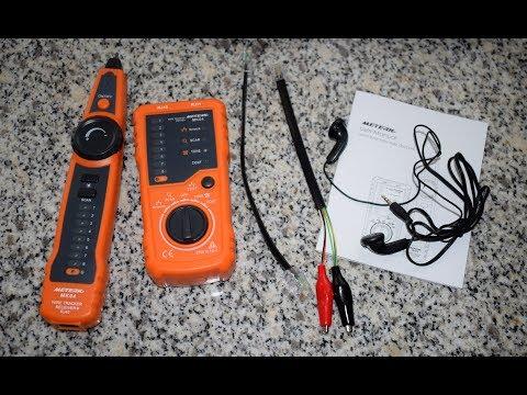 Comprobador de Cables RJ11 / RJ45, Meterk MK-XX1