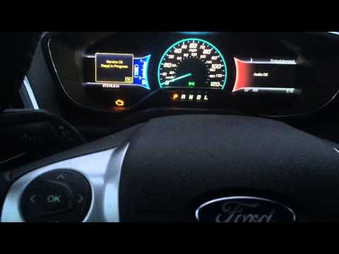 Reset Oil Change Indicator Ford C-Max Hybrid