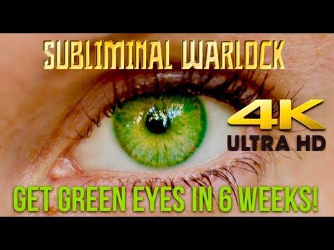 GET GREEN EYES IN 6 WEEKS! BIOKINESIS SUBLIMINAL AFFIRMATIONS WARLOCK -CHANGE EYE COLOR!