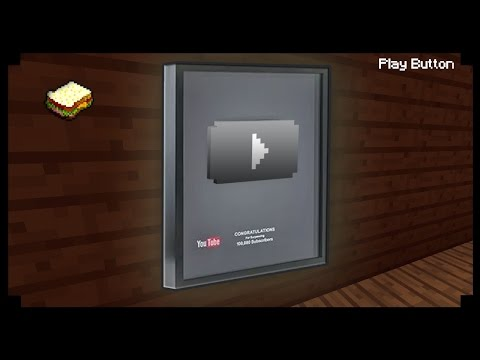 ✔ Minecraft: How to make a Youtube Play Button ( 400 subs ) +1000 subs