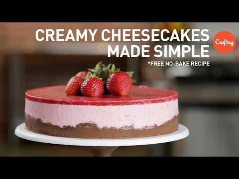 No-Bake Strawberry Cheesecake (free recipe) | Dessert Tutorial with Zoë François