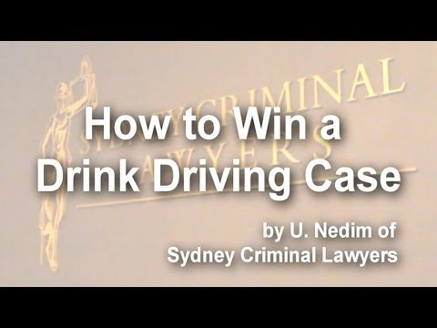 How to win a drink driving case