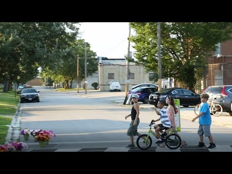 Pop-up complete streets in suburban Chicago