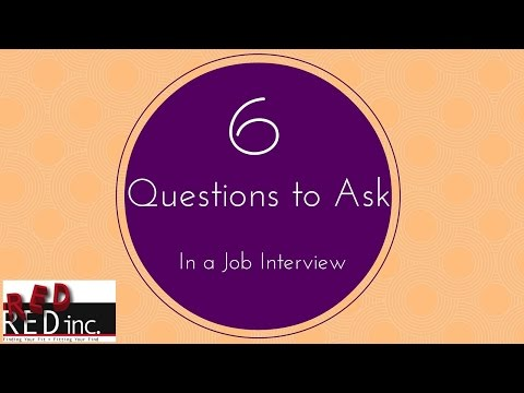 Job Interviews: 6 Great Questions to Ask in a Job Interview