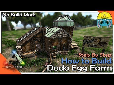 How to Build a Dodo Egg Farm   ARK: Building w/ Fizz (No MODS)