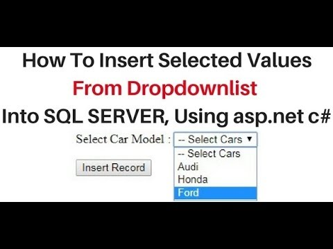dropdownlist selected value insert into sql server table asp.net c#