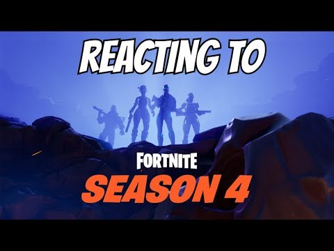 UNLOCKING AND REACTING TO SEASON 4 BATTLE PASS IN FORTNITE!!