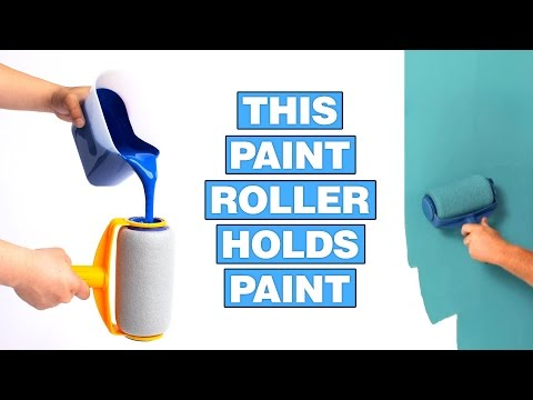 Paint Runner: A Non-Drip Paint Roller That Stores Paint